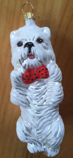 Christbaum-Dekoration West Highland White Terrier glänzend ca. 10 cm hoch