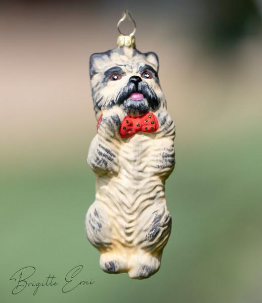Christbaum-Dekoration Cairn Terrier Farbe: Weizen ca. 10 cm hoch