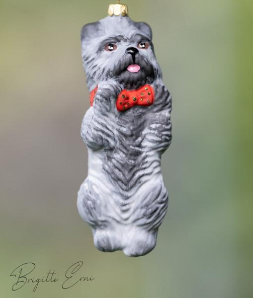 Christbaum-Dekoration Cairn Terrier Farbe: Grau ca. 10 cm hoch