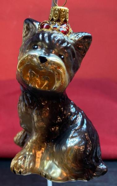 Christbaum-Dekoration Scottish Terrier Schwarz glänzend ca. 10 cm hoch