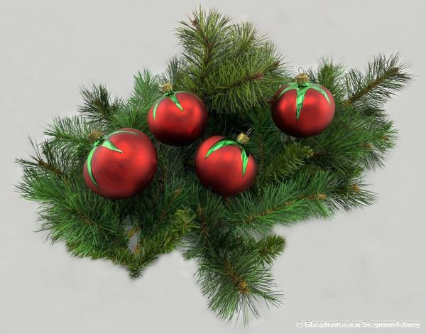 Tomate 4er Set circa 8 cm Durchmesser