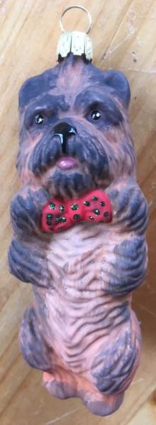 Christbaum-Dekoration Cairn Terrier Farbe: Rot ca. 10 cm hoch